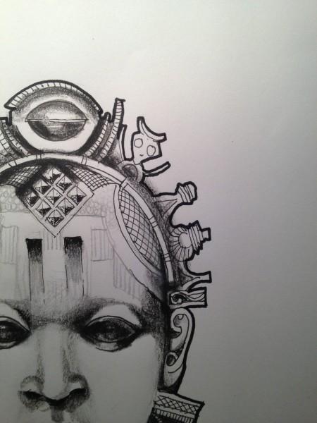 Tatouage Masque Africain Pour Ethnologue 187 201 Pure